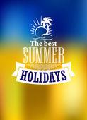 Sommer-Ferien-poster — Stockvektor