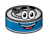 Cartoon happy tin can character — Stock Vector