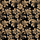 Floral seamless pattern with gold flowers — Stock Vector