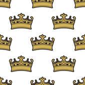 Seamless pattern of golden crowns  — Stockvektor