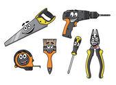 Cartoon diy tools characters — Stock Vector