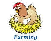 Cartoon hen character — Stock Vector