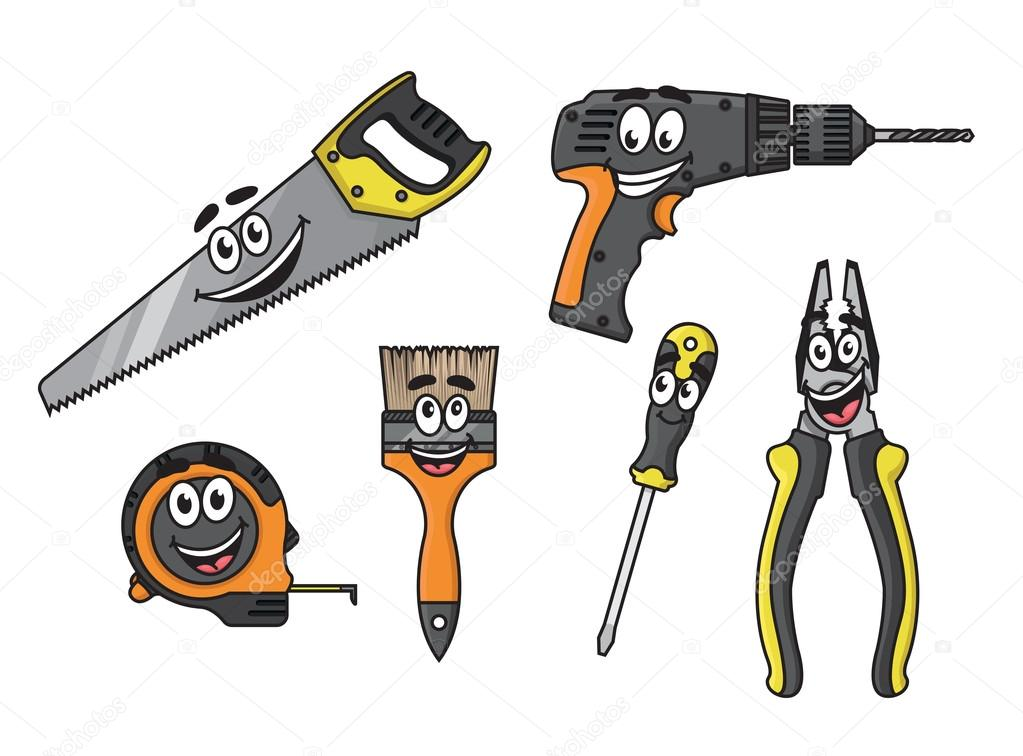 Herramientas de bricolaje dibujos animados personajes - Herramienta de bricolaje ...