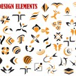 Abstract graphic design elements and symbols — Stock Vector #54259909