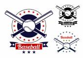 Baseball sport team badges — Vector de stock