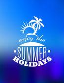 Enjoy the Summer Holidays poster design — Stock Vector