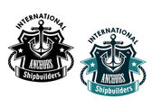 Marine international shipbuilders banner — Stock Vector