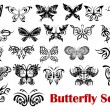 Butterfly silhouette icons — Stock Vector #54260045