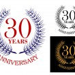 Anniversary celebration emblem with wreath — Stock Vector #54260061