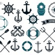 Nautical themed design elements — Stock Vector #54260101