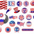 American patriotic badges, symbols and labels — Stock Vector #54260139