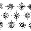 Nautical wind rose and compass icons set — 图库矢量图片 #54260161
