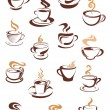 Steaming coffee cups set — Stock Vector #54260201