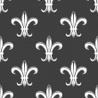 Seamless fleur-de-lis royal white pattern — Stock Vector #54260227