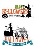 Eerie Halloween themed banners — Stock Vector