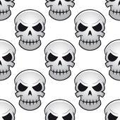 Seamless pattern of danger skulls — Vector de stock