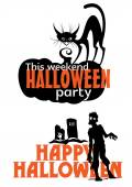 Halloween weekend party scary invitation  — Vetor de Stock