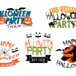 Halloween party banners — Stock Vector #54734015