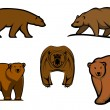 Brown wild bear characters — Stock Vector #54734319