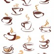 Hot brown coffee icons — Stock Vector #54734347