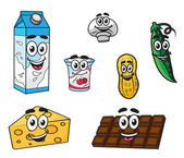 Set of food characters — Stock Vector