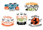 Halloween party banners  — Stock Vector