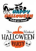 Halloween party banner and poster  — Stock Vector