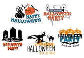 Halloween themes set — Stock Vector