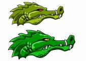 Crocodile or alligator mascot — Stock Vector