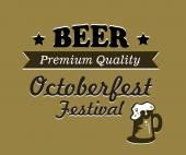 Oktoberfest beer poster design — Stock Vector