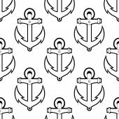 Marine or nautical seamless background pattern — Stock Vector