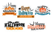 Halloween scary banners — Stock Vector