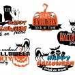 Orange and black Halloween banners — Stock Vector #55311919