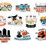 Halloween party and Happy Halloween designs — Stock Vector #55311977