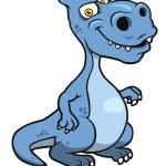 Cute blue cartoon dinosaur — Stock Vector #55312067