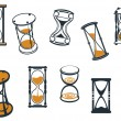 Set of hourglasses or egg timers — ストックベクタ #55312101