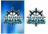 Nautical themed poster The Seafarer — Stock Vector
