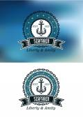 Seafarer badges or emblems — Stock Vector
