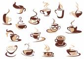 Coffee cup icons — Stock Vector