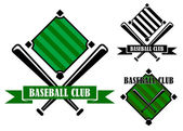 Baseball club emblems or badges — Stock Vector