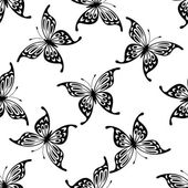 Flying butterflies seamless background pattern — Stock Vector