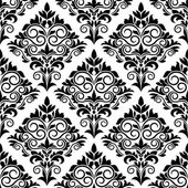 Black and white arabesque seamless pattern design — Stock Vector