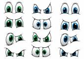 Set of cartoon eyes showing various expression — Stock Vector