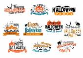 Different party Halloween designs — Stock Vector