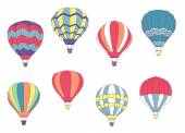 Set of colored hot air balloons — Vettoriale Stock
