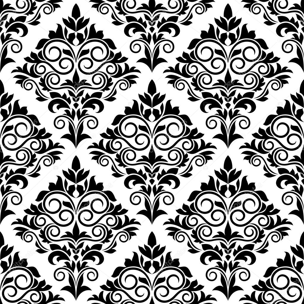 Dessin de transparente motif arabesque noir et blanc for Arabesque style decoration