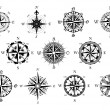 Antique compasses symbols set — Stock Vector #55922853