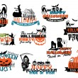 Set of Happy Halloween vector banners — Stock Vector #55923045