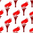 Flaming torches seamless background pattern — Stock Vector #55923181