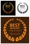 Best Quality Guaranteed labels — Stock Vector